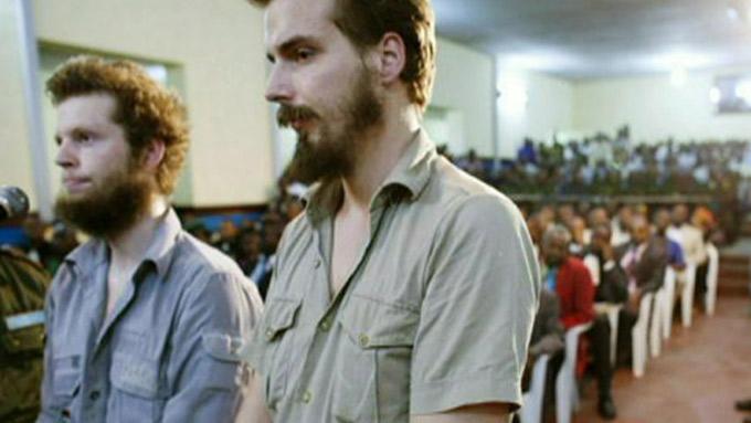 DRAPSTILTALT: Joshua French (27) og Tjostolv Moland (28)