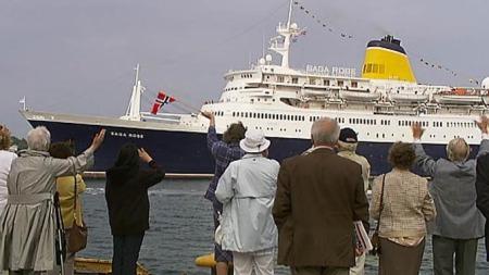 Den tidligere Amerikabåten «Sagafjord» seiler nå under navnet «Saga Rose».