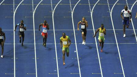 sprint  (Foto: ANTONIN THUILLIER/AFP)