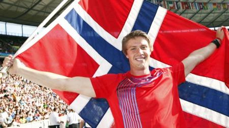 Andreas Thorkildsen sikret en suveren VM-seier med 89,59 meter   i andre kast. (Foto: Cornelius Poppe / SCANPIX)