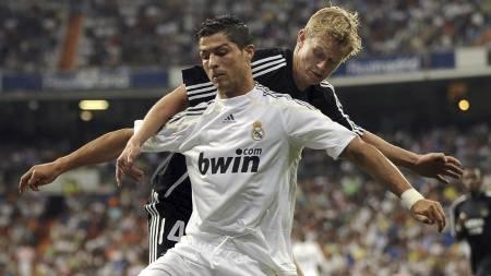 Cristiano Ronaldo og Steffen Iversen  (Foto: PEDRO ARMESTRE/AFP)