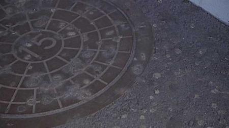 Tyggis på gaten. (Foto: TV 2)