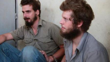 Tjostolv Moland (f.v) og Joshua French.  (Foto: Fredrik Græsvik/ TV 2)