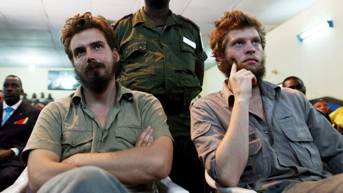 Konsulen ved den britiske ambassaden i Kongo reiser mandag til Kisangani for å møte Joshua French (til høyre).  (Foto: Vegar K. Vatn / Scanpix)