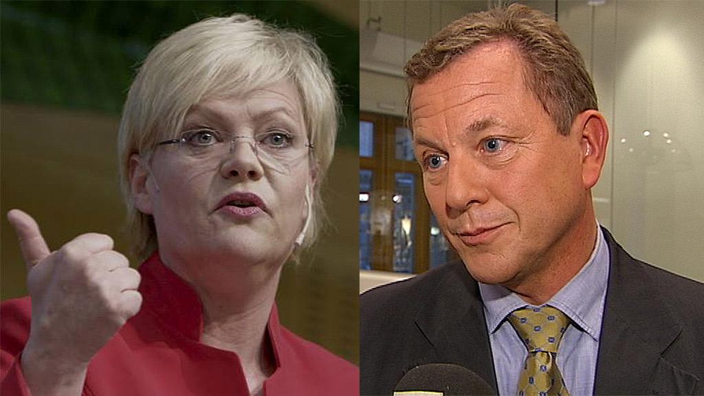 Kristin Halvorsen og John G. Bernander