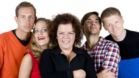 Torsdag kveld fra Nydalen- Morten Ramm, Henriette Steenstrup, Else Kåss Furuseth, Henrik Thodesen, Odd-Magnus Williamson (Foto: TV 2)