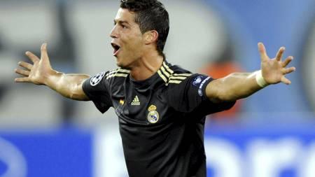 SCORET FOR BOLT: Cristiano Ronaldo  (Foto: Walter Bieri/AP)