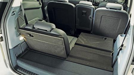 Fleksibelt interiør med to ekstra seter bakerst i Grand C-Max.
