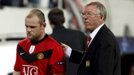 Wayne Rooney og Sir Alex Ferguson (Foto: MURAD SEZER/REUTERS)