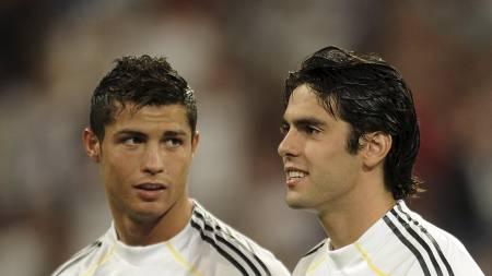 Cristiano Ronaldo og   Kaká (Foto: PEDRO ARMESTRE/AFP)