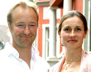FÅR SØNN: Kjetil André Amodt og kona Stine har datteren Erle   sammen. I november blir de foreldre igjen - til en sønn.