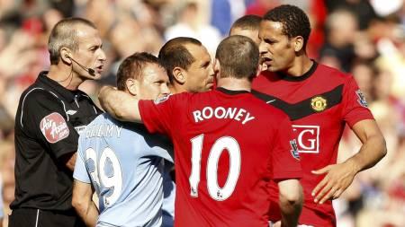 Ampert på Old Trafford forrige gang lagene møttes. (Foto: Jon Super/AP)