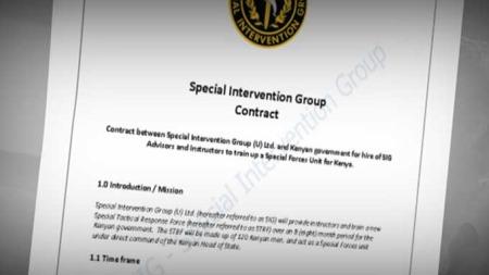 KONTRAKTEN: Dette er kontrakten for avtalen SIG og Tjostolv Moland ville inngå med kenyanske myndigheter. (Foto: TV 2)