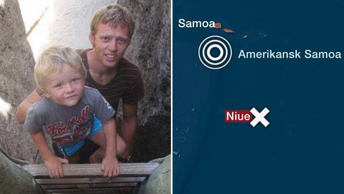Familien Driveklepp befinner seg på øyen Nuie cirka 300 kilometer unna Samoa-øyene som er rammet. (Foto: Privat/TV 2)