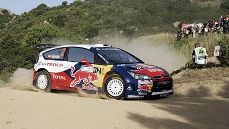 Citroën C4 i WRC-versjon, med Sebastien Loeb bak rattet.
