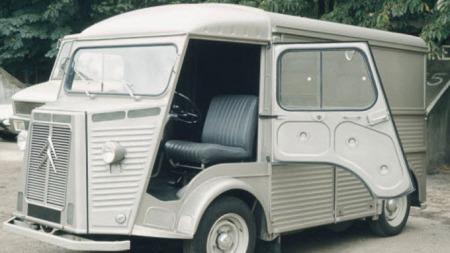 Bølgeblikk-bilen Citroën HY. Ikke spesielt vakker...