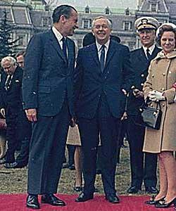 BLE OVERVÅKET: Statsminister Harold Wilson under et møte med USAs president Richard Nixon i 1970. (Foto: Nixon White House Photo Office)