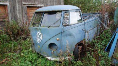 En litt sliteb VW Pick up (Foto: Bilde fra støttegruppen på Facebook)
