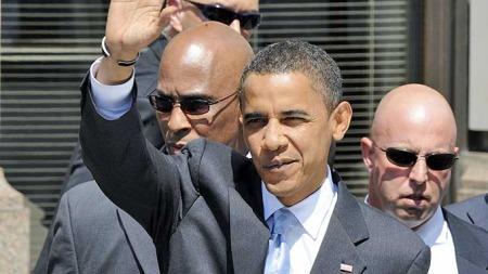 Barack Obama og Secret Service (Foto: Scanpix)