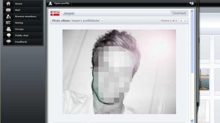 Jesper fra Danmark er den mannen på nettstedet med høyest ranking.  (Foto: Faksimile )