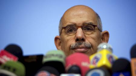 Tidligere generaldirektør Mohamed ElBaradei i IAEA og fredsprisvinner i 2005. (Foto: CAREN FIROUZ/REUTERS)