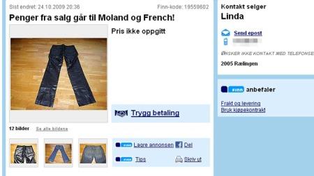 Finn.no buskesalg til Moland og French (Foto: Faksimile)