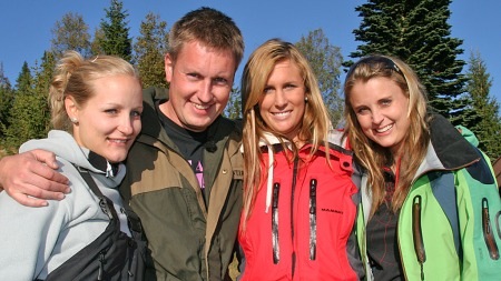 Kristian akervold jakten på kjærligheten 2009-og-tre-jenter (Foto: Beate Sneve Larsen)