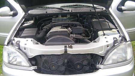 Minste motor en 2,3 liter bensin på 150 hk (Foto: Ola Evenås)
