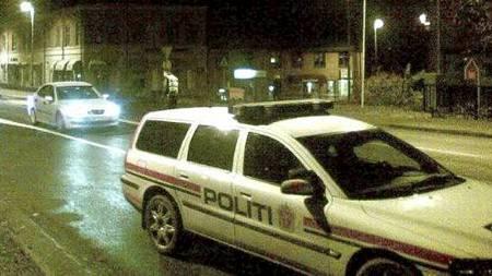 Politiet gikk til aksjon på Jeløya onsdag kveld.  (Foto: Tipser-bilde/)