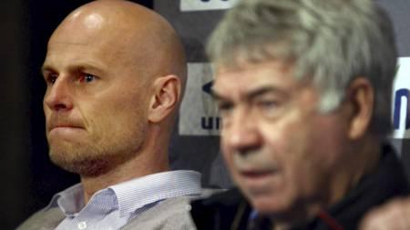 UENIG: Ståle Solbakken er uenig med Drillo i at Norge var klart bedre enn Albania (Foto: Junge, Heiko/NTB scanpix)