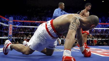 Manny Pacquiao slo Miguel Cotto i bakken. (Foto: STEVE MARCUS/REUTERS)
