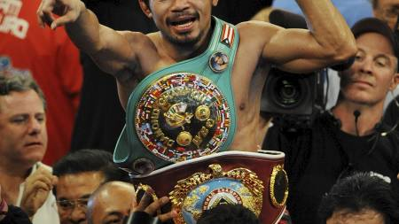 Manny Pacquiao slo Miguel Cotto (Foto: MARK RALSTON/AFP)