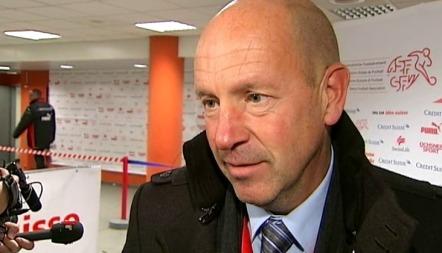Toppfotballsjef Nils Johan Semb etter Norges landskamp mot Sveits.
