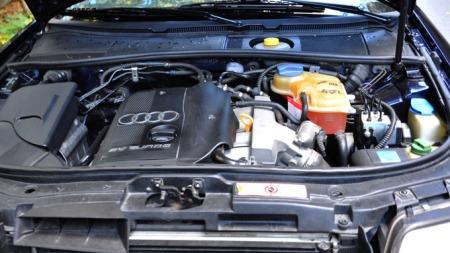 1,8-liter turbomotor på 150 hk. (Foto: Sigmund Bade)