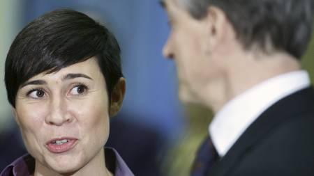 Ine   Marie Eriksen Søreide er nyutnevnt leder av Stortingets Utenriks- og   forsvarskomité. Her sammen med utenriksminister Jonas Gahr Støre. (Foto:   Aas, Erlend/Scanpix)
