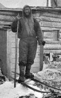 Hjalmar Johansen etter ankomsten ved «Jackson's Camp»   i august 1896.