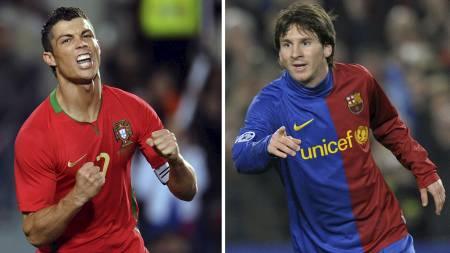 KNUSTE RONALDO: Lionel Messi knuste Ronaldo i kampen om Ballon d'or (Foto: FRANCISCO LEONG/AFP)