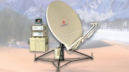 Denne antennen er en del av kommunikasjonssystemet presidenten skal bruke under Oslo-oppholdet. (Foto: Skjermdump)
