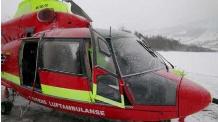 helikopterstyrt (Foto: Havarikommisjonen)