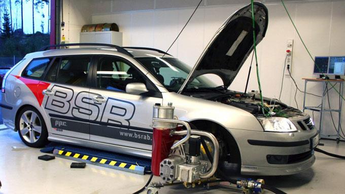 Saab-på-ruller (Foto: BSR Tuning)