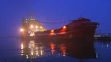 Viking Lady er verdens mest miljøvennlige motordrevne skip.  (Foto: TV 2)