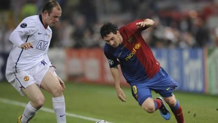 Lionel Messi og Wayne Rooney (Foto: CHRISTOPHE SIMON/AFP)