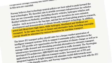 SKRYTEBREV: TV 2 har fått tilgang til brevet regjeringen sendte til EU. (Foto: TV 2)
