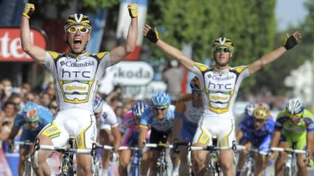 Cavendish og Renshaw (Foto: PATRICK HERTZOG/AFP)