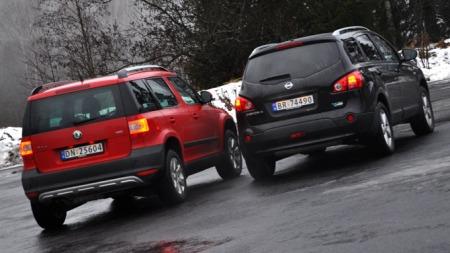 Skoda Yeti og Nissan Qashqai