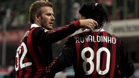David Beckham og Ronaldinho  (Foto: ALESSANDRO GAROFALO/REUTERS)