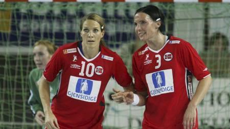 Gro Hammerseng (t.v.) og Katja Nyberg (Foto: Larsen,   Håkon Mosvold/SCANPIX)