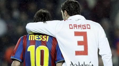 Messi og Drago (Foto: ALBERT GEA/REUTERS)