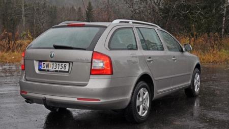 Skoda Octavia er en pen bil. (Foto: Sigmund Bade)