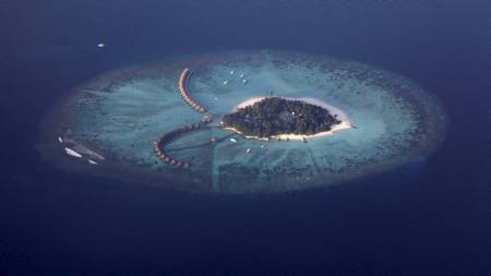 En av ferieøye på MALDIVENE. (Foto: REINHARD KRAUSE/REUTERS)